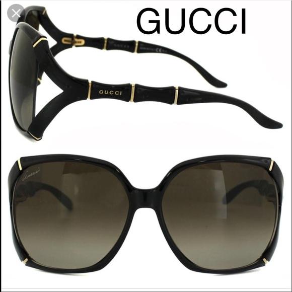 0a6096bcd27 Gucci Accessories   Nwt Square Bamboo Black Oversized Gg505s   Poshmark